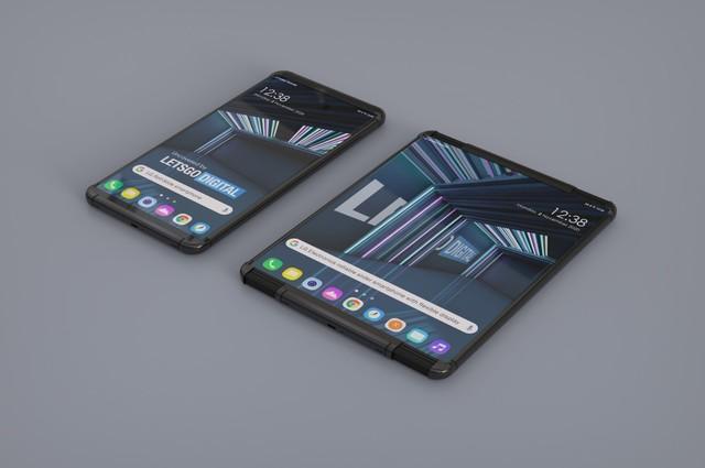 LG也要做卷轴屏手机?左右拉伸内置弹簧结构