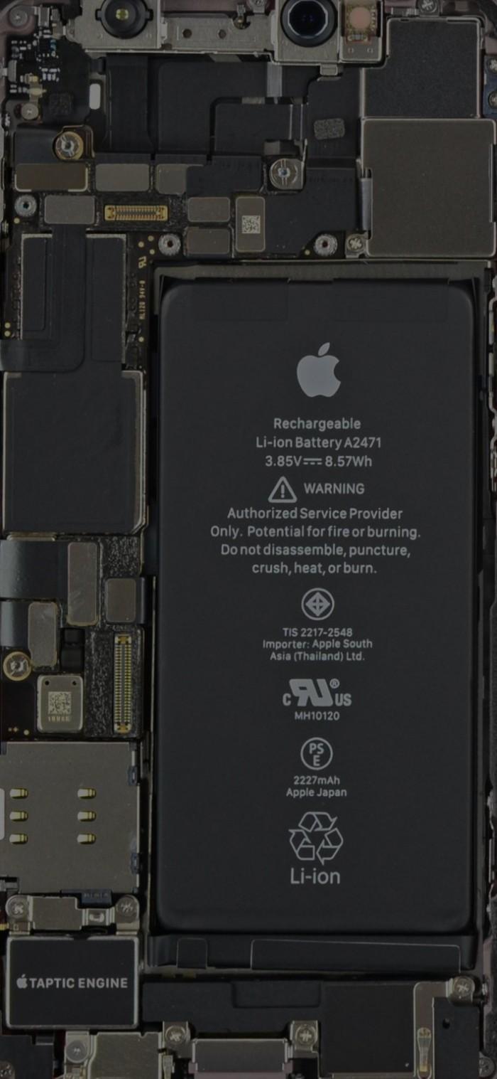 超大杯采用L型电池 iPhone 12系列透视壁纸分享
